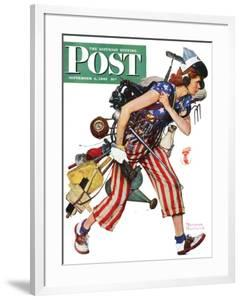 """Rosie to the Rescue"" Saturday Evening Post Cover, September 4,1943 by Norman Rockwell"