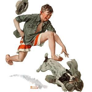 """""""Runaway Pants"""", August 9,1919 by Norman Rockwell"""