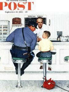 """""""Runaway"""" Saturday Evening Post Cover, September 20,1958 by Norman Rockwell"""