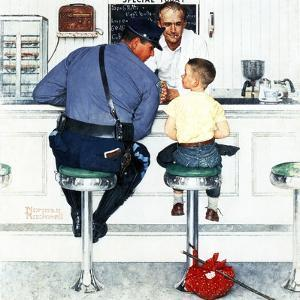"""Runaway"", September 20,1958 by Norman Rockwell"