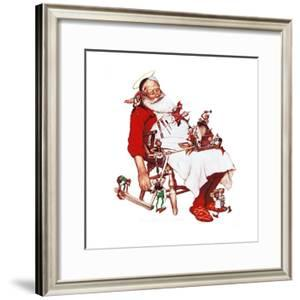 Santa and Helpers by Norman Rockwell