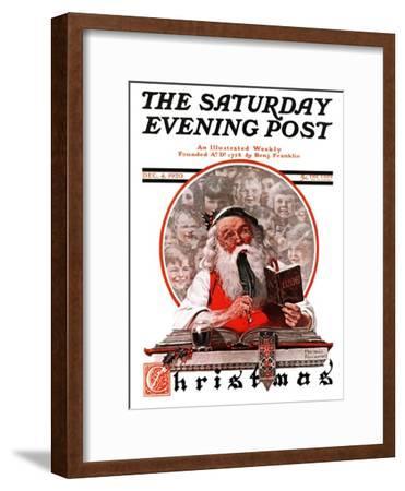 """Santa's Expenses"" Saturday Evening Post Cover, December 4,1920"