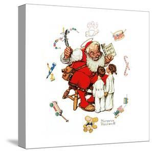 Santa's Visitors by Norman Rockwell