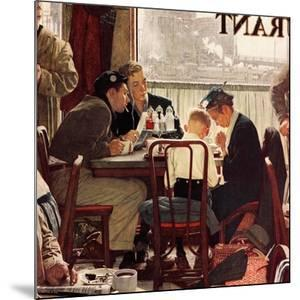 """""""Saying Grace"""", November 24,1951 by Norman Rockwell"""