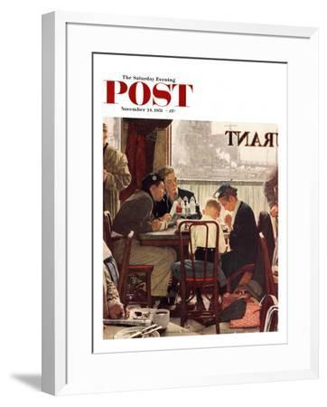 """Saying Grace"" Saturday Evening Post Cover, November 24,1951 by Norman Rockwell"