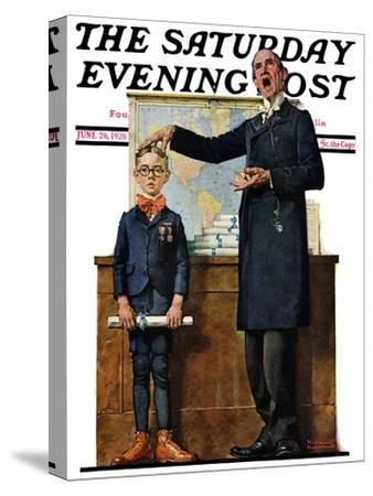 """""""Schoolmaster"""" or """"First in his Class"""" Saturday Evening Post Cover, June 26,1926"""