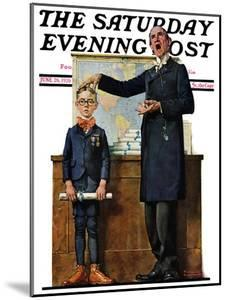 """""""Schoolmaster"""" or """"First in his Class"""" Saturday Evening Post Cover, June 26,1926 by Norman Rockwell"""