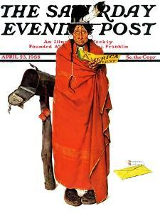 """See America First"" Saturday Evening Post Cover, April 23,1938 by Norman Rockwell"