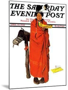 """""""See America First"""" Saturday Evening Post Cover, April 23,1938 by Norman Rockwell"""
