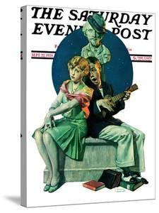 """""""Serenade"""" Saturday Evening Post Cover, September 22,1928 by Norman Rockwell"""