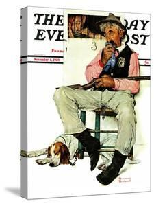 """Sheriff and Prisoner"" Saturday Evening Post Cover, November 4,1939 by Norman Rockwell"