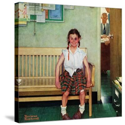"""Shiner"" or ""Outside the Principal's Office"", May 23,1953 by Norman Rockwell"