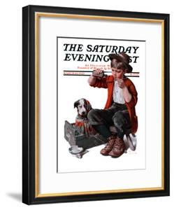 """""""Sick Puppy"""" Saturday Evening Post Cover, March 10,1923 by Norman Rockwell"""