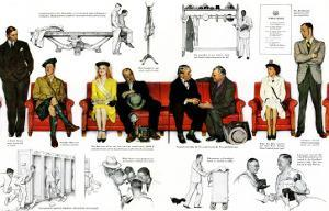 """""""So You Want to See the President"""" B, November 13,1943 by Norman Rockwell"""
