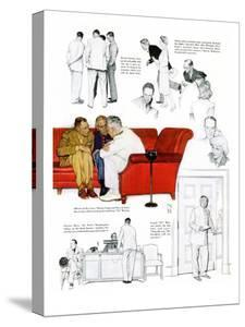 """""""So You Want to See the President"""" C, November 13,1943 by Norman Rockwell"""