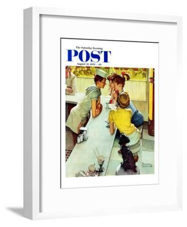 """Soda Jerk"" Saturday Evening Post Cover, August 22,1953"