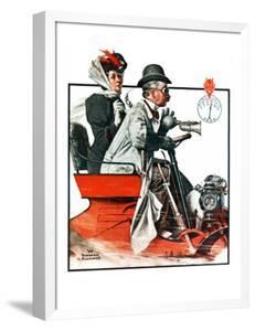 """Speeding Along"", July 19,1924 by Norman Rockwell"