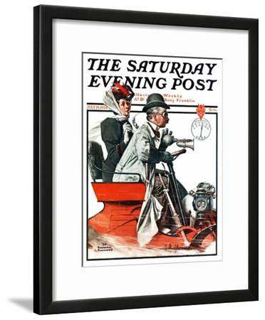 """""""Speeding Along"""" Saturday Evening Post Cover, July 19,1924"""