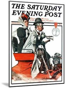 """""""Speeding Along"""" Saturday Evening Post Cover, July 19,1924 by Norman Rockwell"""