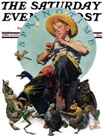 """Springtime, 1927"" Saturday Evening Post Cover, April 16,1927 by Norman Rockwell"