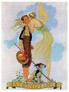 """Springtime, 1933"", April 8,1933 by Norman Rockwell"