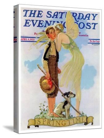 """Springtime, 1933"" Saturday Evening Post Cover, April 8,1933"