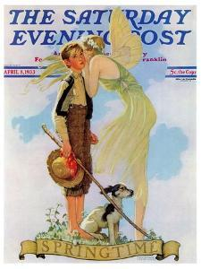 """""""Springtime, 1933"""" Saturday Evening Post Cover, April 8,1933 by Norman Rockwell"""