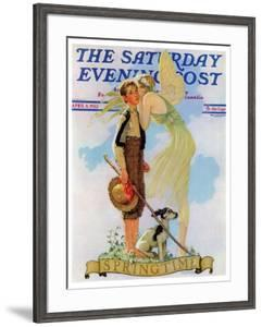 """Springtime, 1933"" Saturday Evening Post Cover, April 8,1933 by Norman Rockwell"