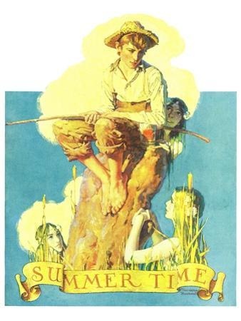"""""""Summertime, 1933"""", August 5,1933 by Norman Rockwell"""
