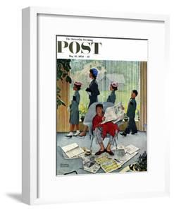 """""""Sunday Morning"""" Saturday Evening Post Cover, May 16,1959 by Norman Rockwell"""
