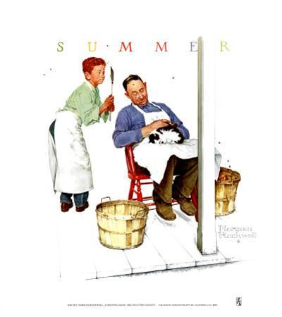 Swatter's Rights by Norman Rockwell