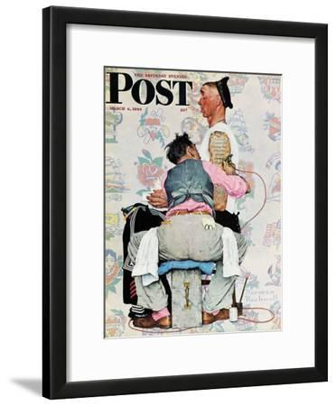 """Tattoo Artist"" Saturday Evening Post Cover, March 4,1944"