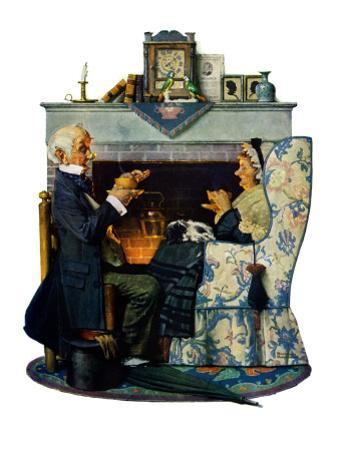 """""""Tea for Two"""" or """"Tea Time"""", October 22,1927 by Norman Rockwell"""