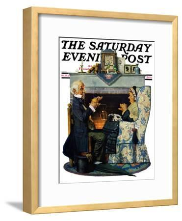 """""""Tea for Two"""" or """"Tea Time"""" Saturday Evening Post Cover, October 22,1927"""