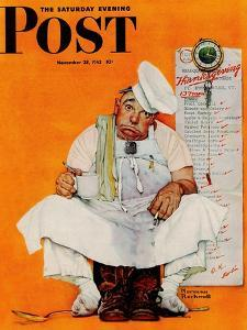 """""""Thanksgiving Day Blues"""" Saturday Evening Post Cover, November 28,1942 by Norman Rockwell"""