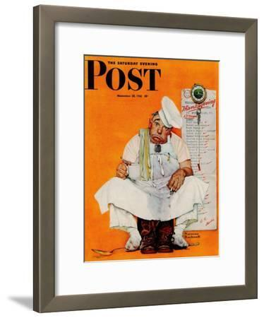 """Thanksgiving Day Blues"" Saturday Evening Post Cover, November 28,1942"