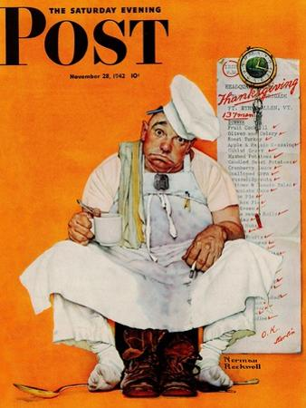 """Thanksgiving Day Blues"" Saturday Evening Post Cover, November 28,1942 by Norman Rockwell"