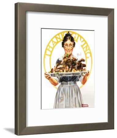 Thanksgiving (or Woman Holding Platter with Turkey)