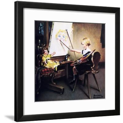 The Artist's Daughter (or Little Girl with Palette at Easel)