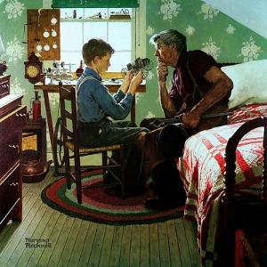 The Boy Who Put the World on Wheels (or The Inventor) by Norman Rockwell