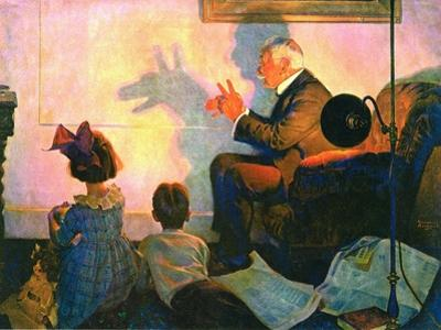 The Children's Hour (or Shadows on the Wall) by Norman Rockwell