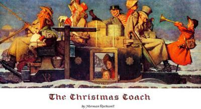"""""""The Christmas Coach"""", December 28,1935 by Norman Rockwell"""