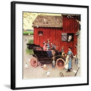 The Farmer Takes a Ride by Norman Rockwell