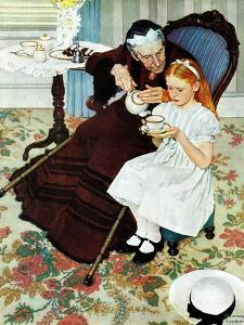 """""""The Handkerchief"""", January 27,1940 by Norman Rockwell"""