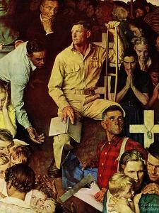 """""""The Long Shadow of Lincoln"""", February 10,1945 by Norman Rockwell"""