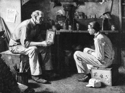 The Master and the Apprentice by Norman Rockwell