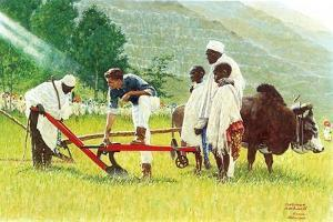 The Peace Corps in Ethiopia ' by Norman Rockwell