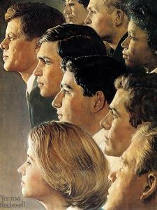 The Peace Corps (or JFK's Bold Legacy) by Norman Rockwell