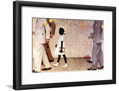 The Problem We All Live With (or Walking to School--Schoolgirl with U.S. Marshals) by Norman Rockwell