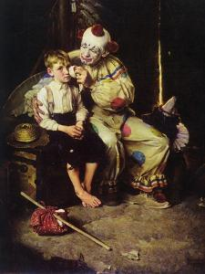 The Runaway (or Runaway Boy and Clown) by Norman Rockwell